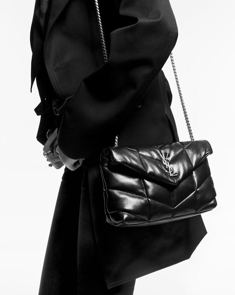 PUFFER绗缝褶皱雾面皮革手袋