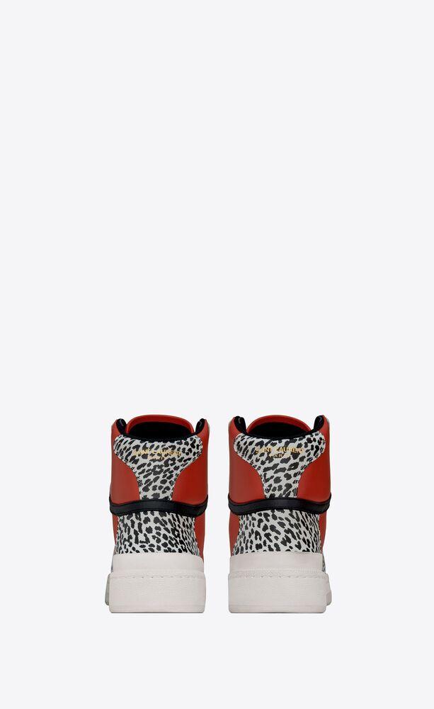SL24中帮小猫印花皮革运动鞋