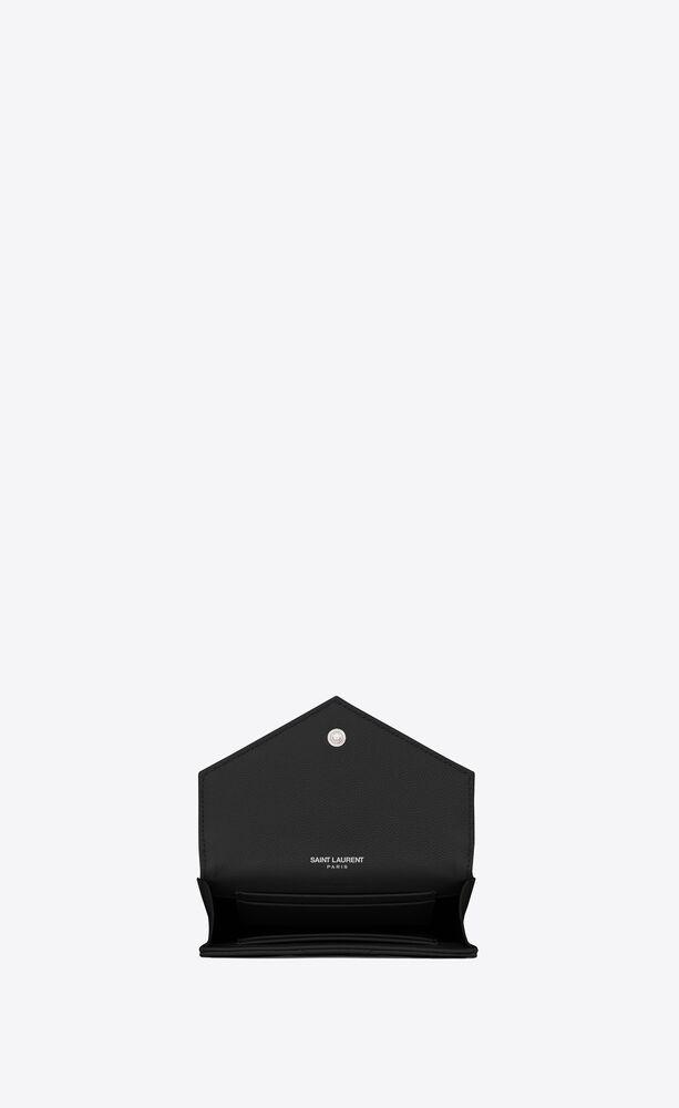 小号monogram黑色颗粒纹理长款钱包