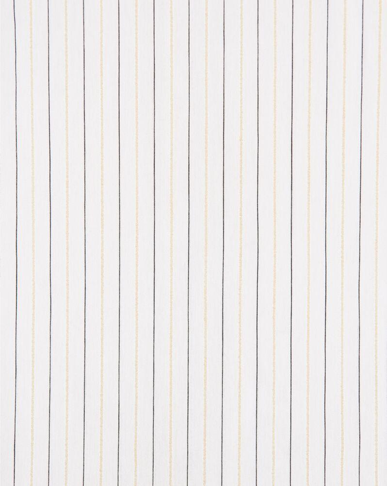 条纹雪尼尔纱青果领衬衫