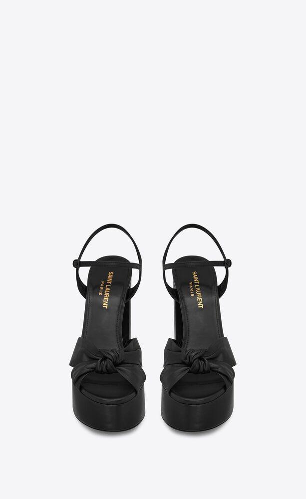BIANCA光滑皮革凉鞋