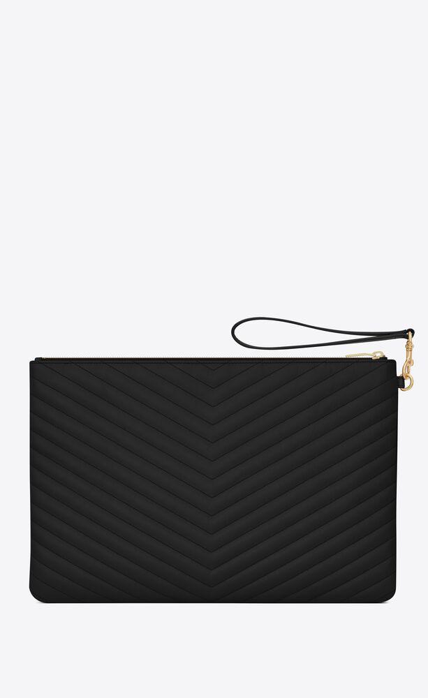 Monogram黑色绗缝真皮文件包