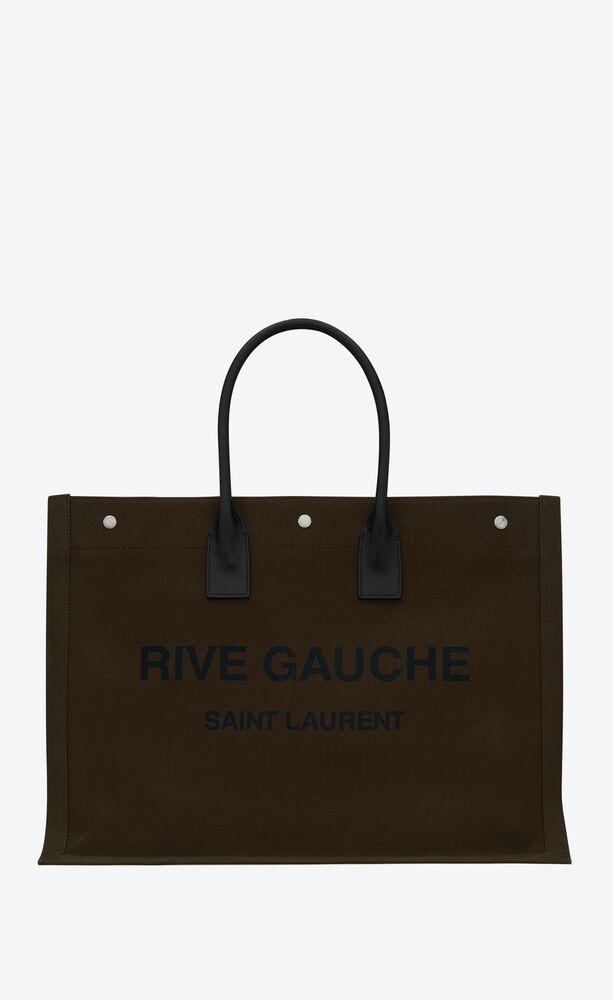 印花帆布和皮革RIVE GAUCHE大号托特包