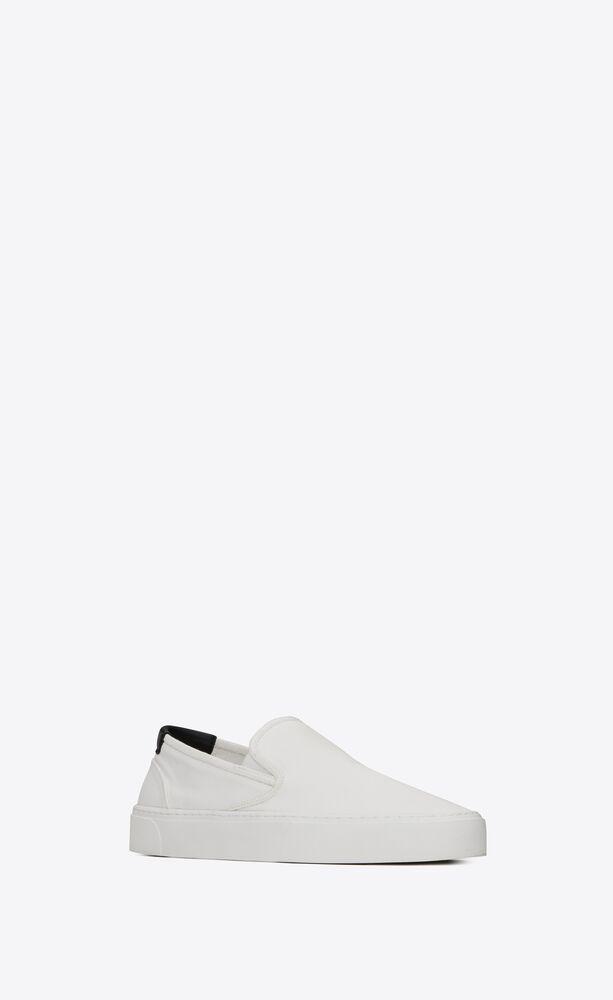 VENICE 帆布配皮革套穿式运动鞋
