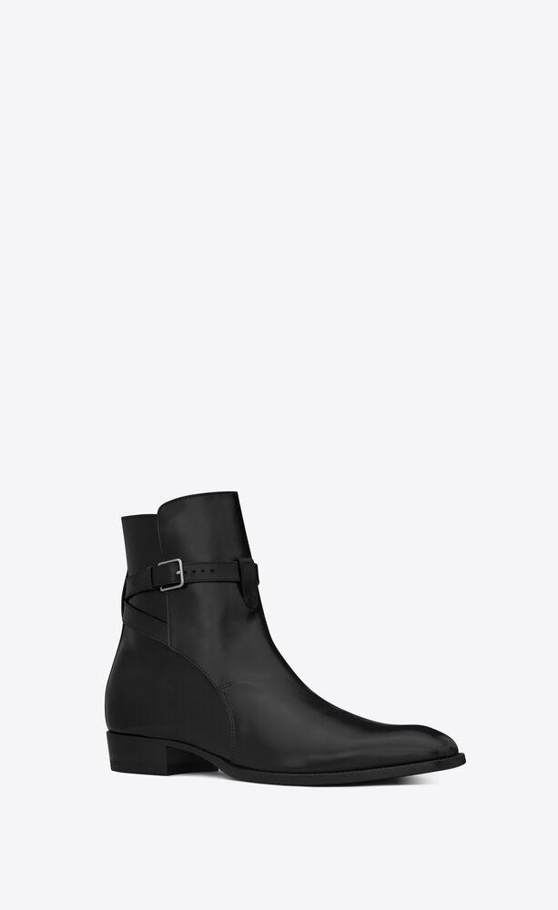 wyatt 30 jodhpur靴,采用黑色皮革