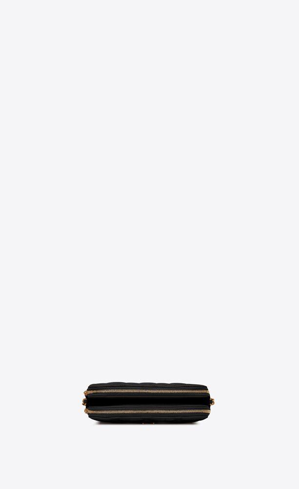 BECKY双拉链绗缝小羊皮手拿包