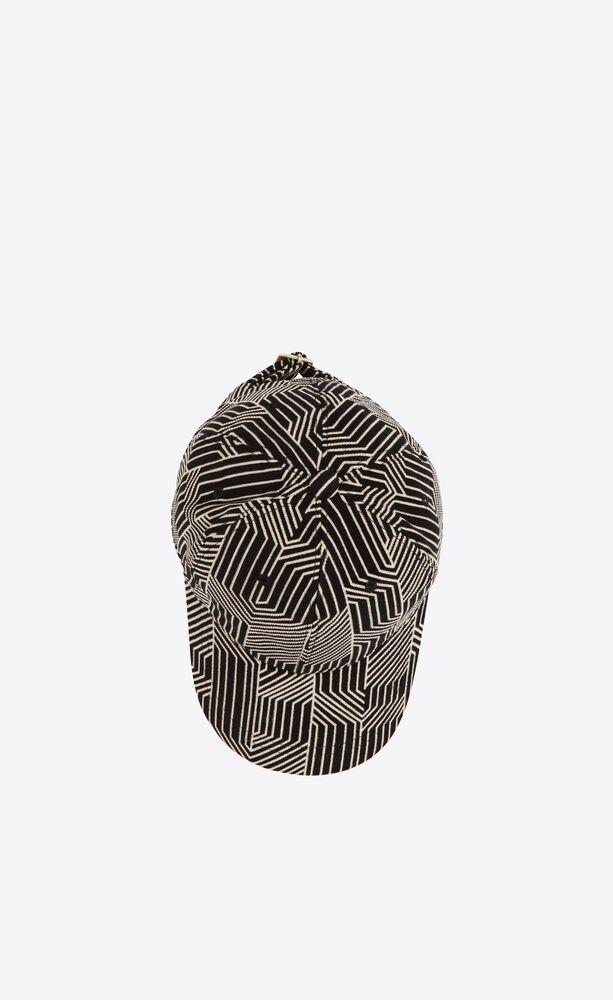 迷宫图案天鹅绒棒球帽