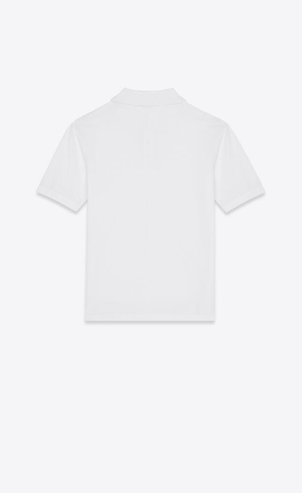 Monogram珠地棉polo衫