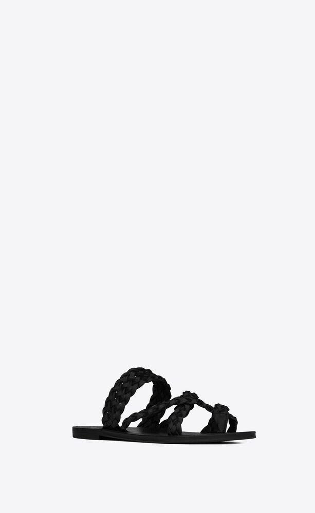 NEIL编织皮革凉鞋