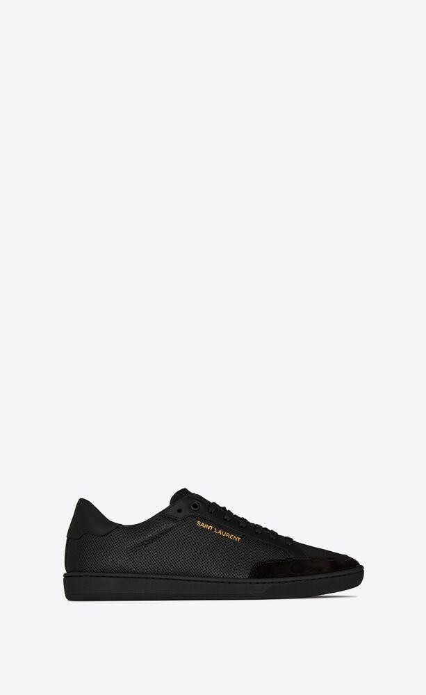COURT CLASSIC SL/10多孔皮革和绒面材质运动鞋