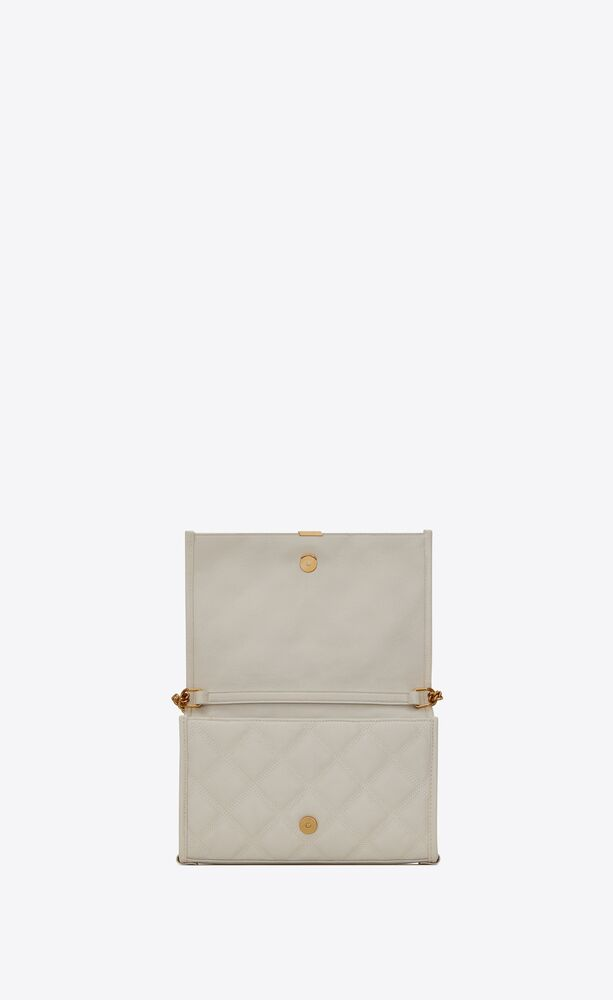 BECKY 钻石绗缝小羊皮链条钱包