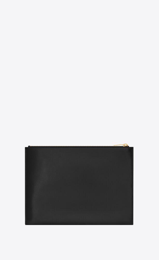 Tiny Monogram拉链亮面皮革平板电脑包