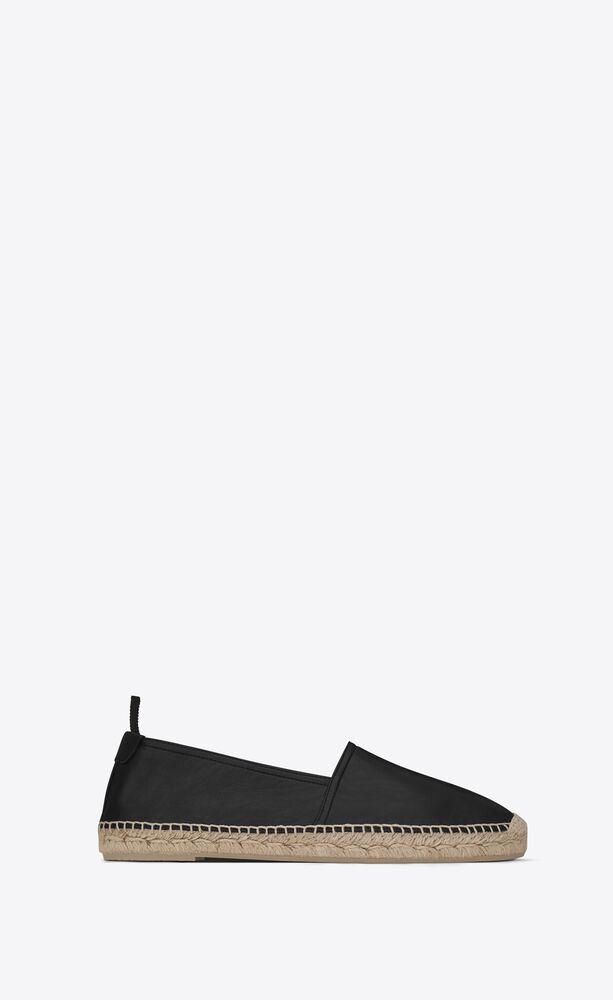 monogram黑色真皮便鞋