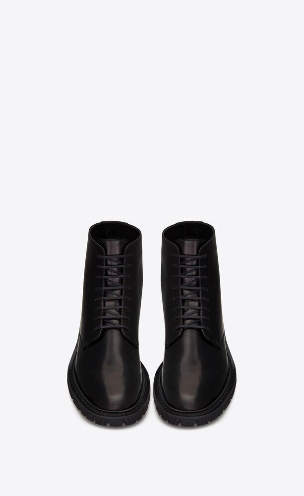 ARMY光滑皮革系带靴