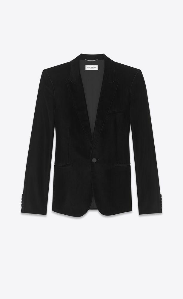 黑色丝绒夹克