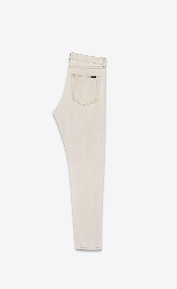 灰色超漂白直筒牛仔裤