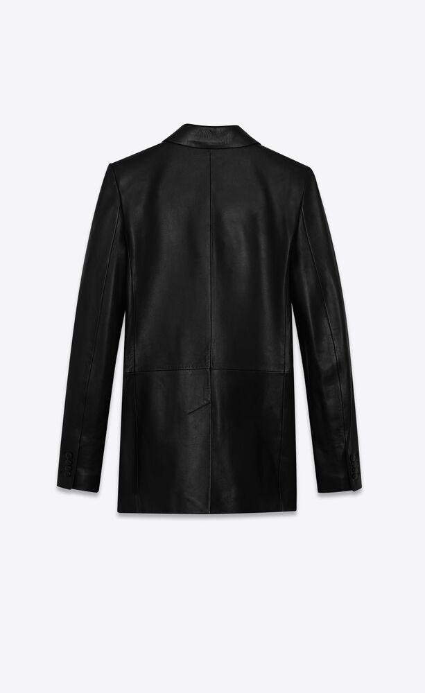 皮革西装夹克