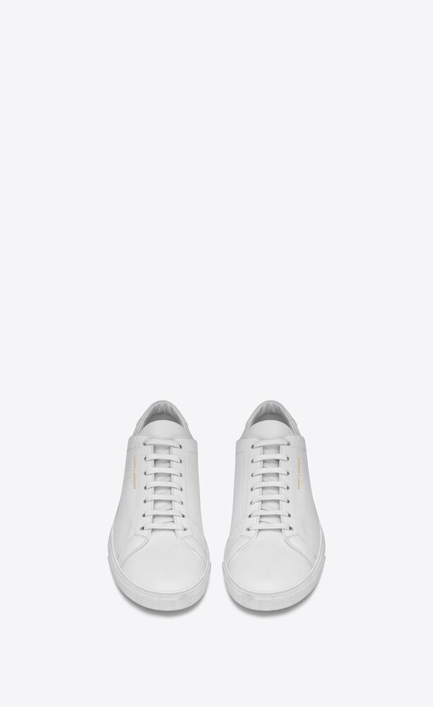 Andy 白色真皮低帮运动鞋