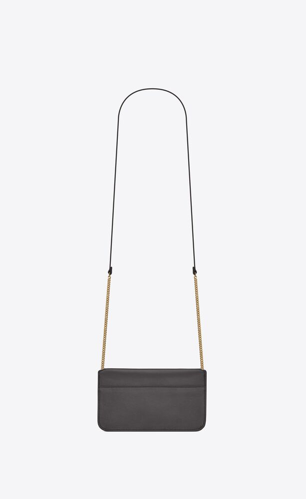 MONOGRAM光滑皮革饰带手机包