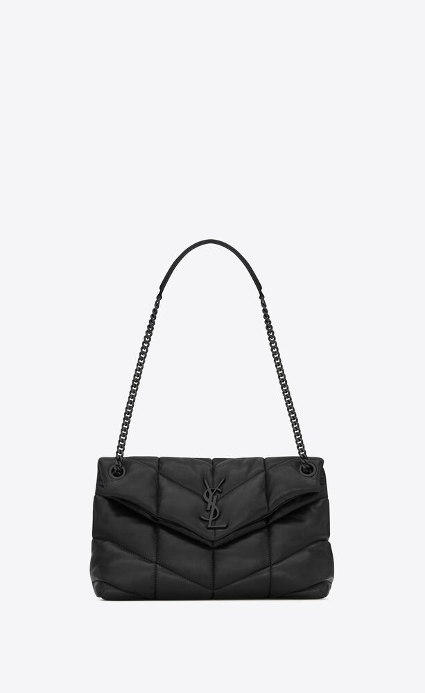 PUFFER小号绗缝小羊皮手袋包