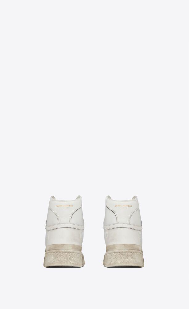 SL24中帮多孔做旧效果皮革运动鞋