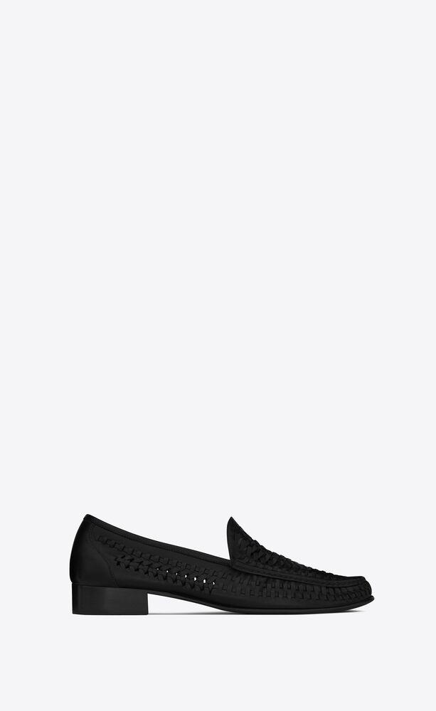 SWANN编织皮革乐福鞋