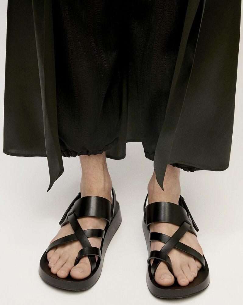 NOAH光滑皮革凉鞋
