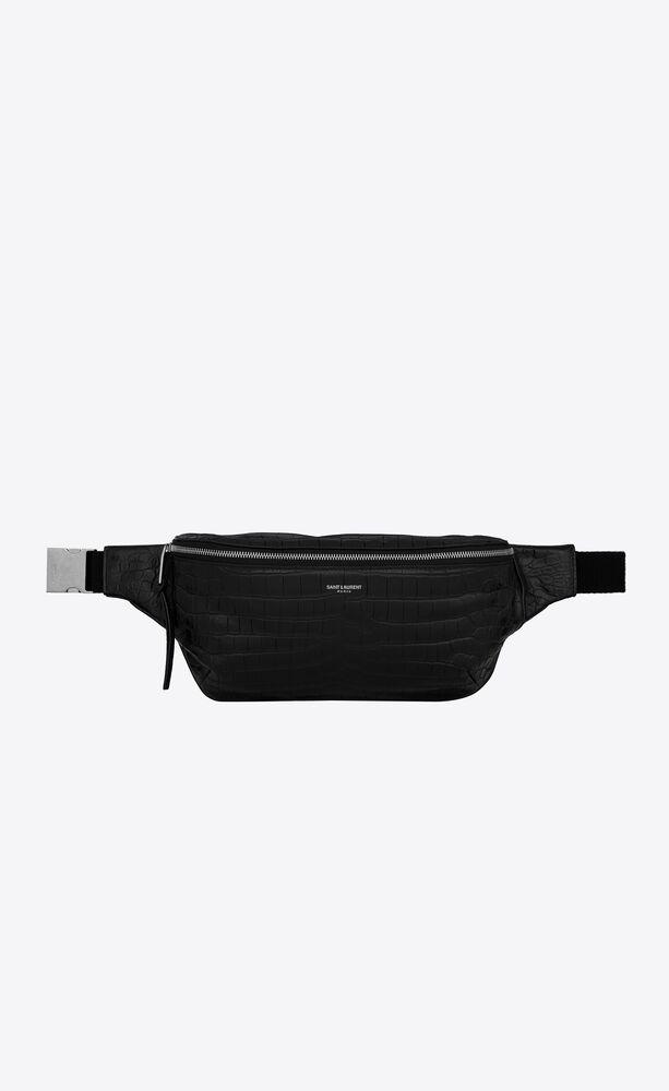 CLASSIC鳄鱼纹压印皮革腰包