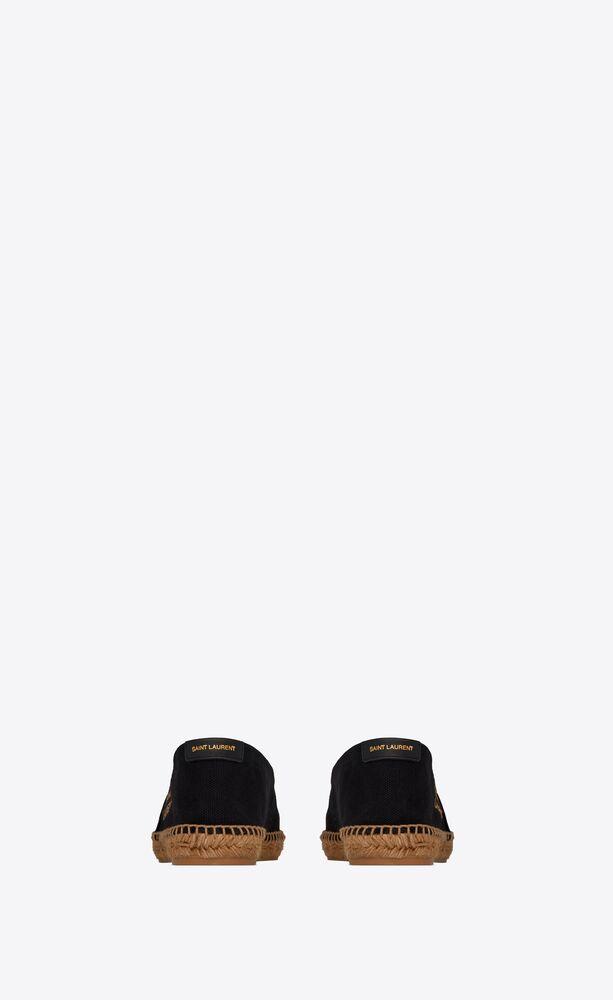 圣罗兰刺绣麻绳底帆布鞋