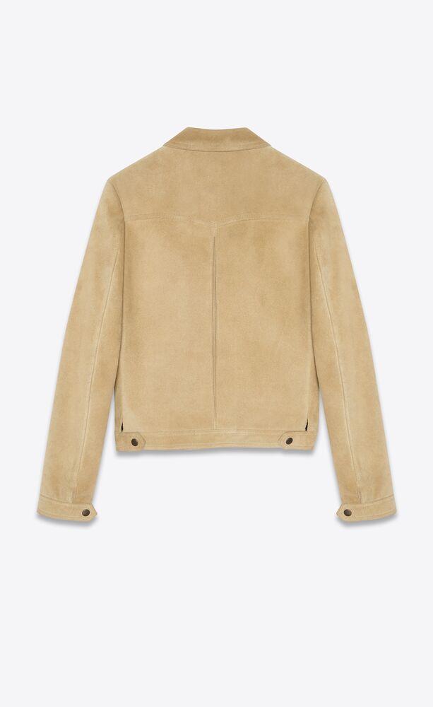绒面材质短款夹克