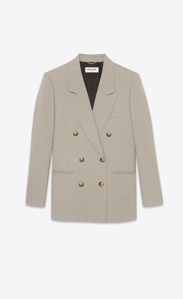 双排扣羊毛华达呢夹克