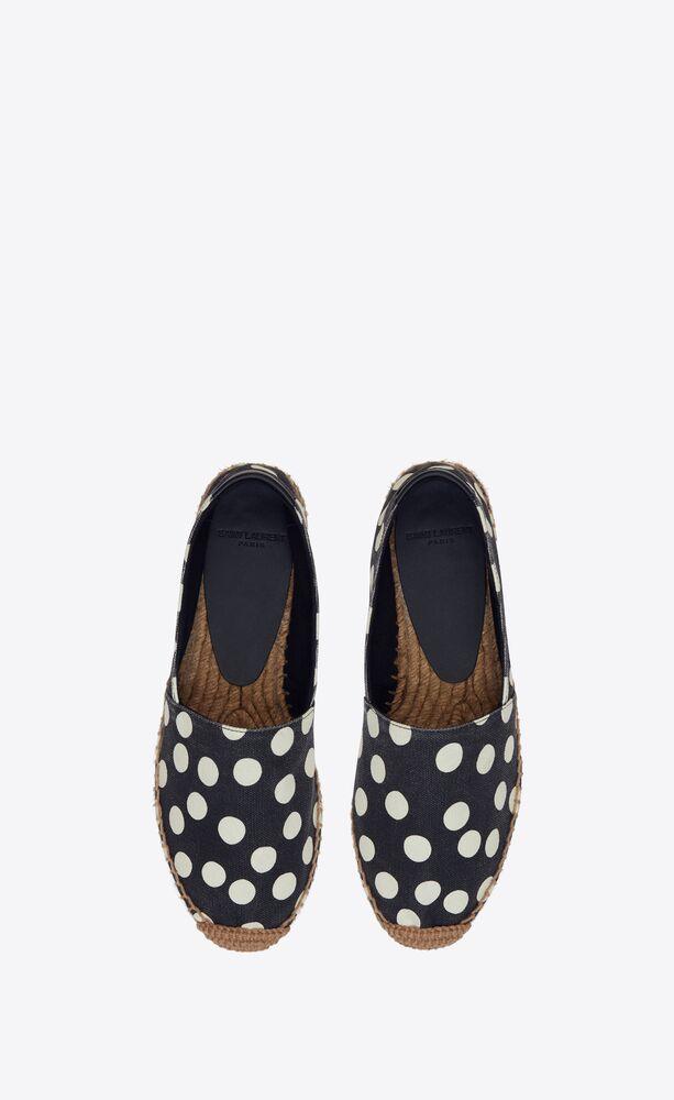 SAINT LAURENT刺绣麻绳底波点帆布鞋