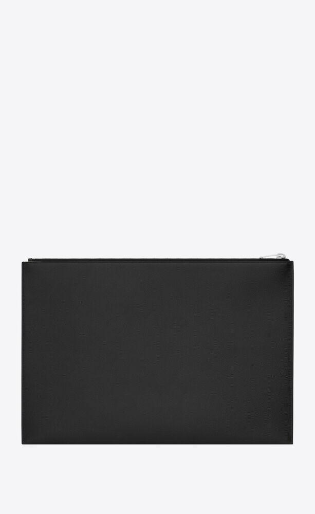 经典经典圣罗兰 paris黑色真皮荔枝纹手包