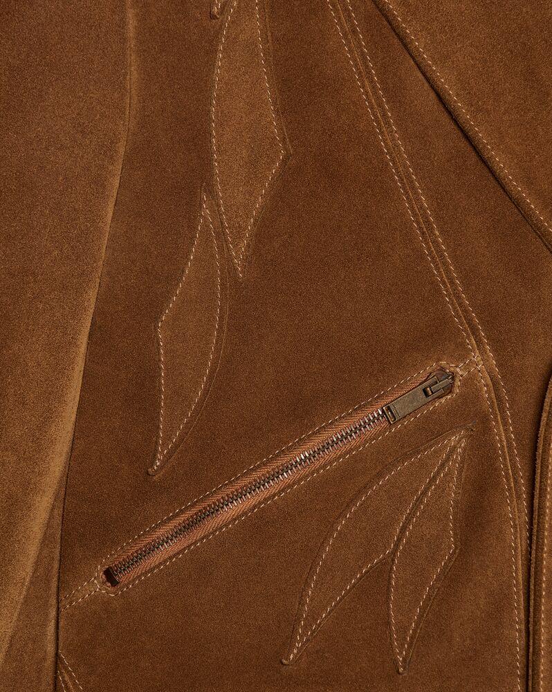复古绒面材质叶片夹克