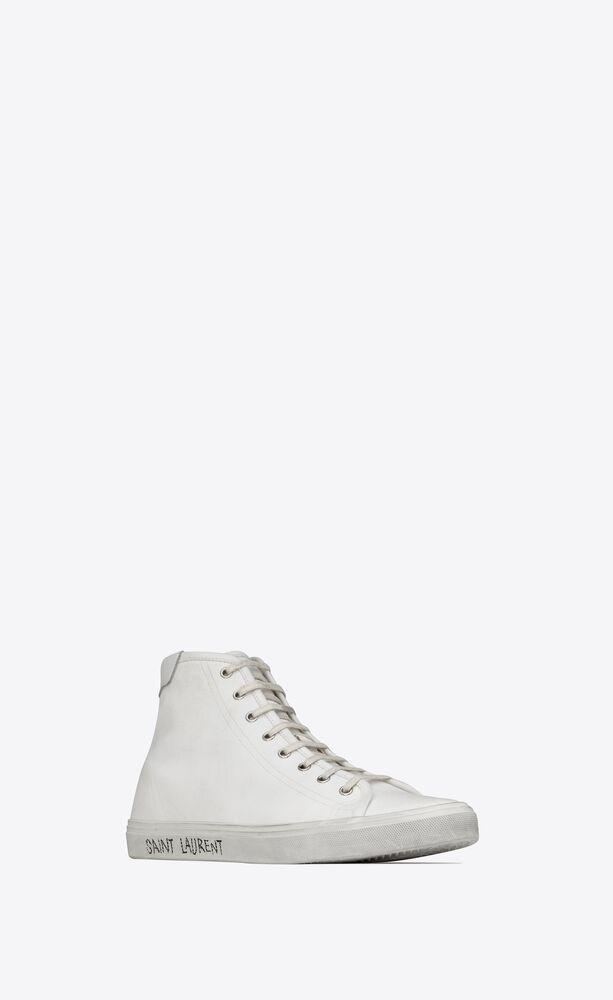 MALIBU中帮帆布和皮革运动鞋