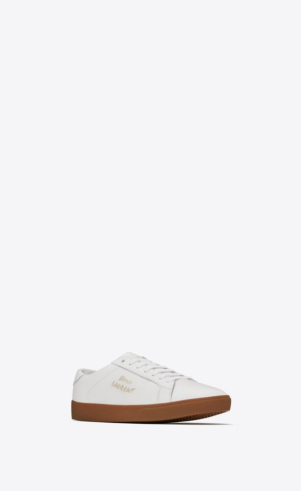 COURT CLASSIC Sl/06粒面皮革刺绣运动鞋