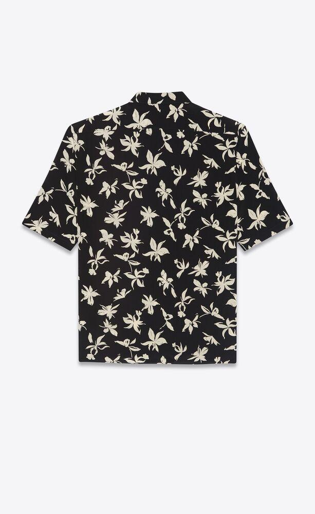 野兰花桑蚕丝双绉衬衫
