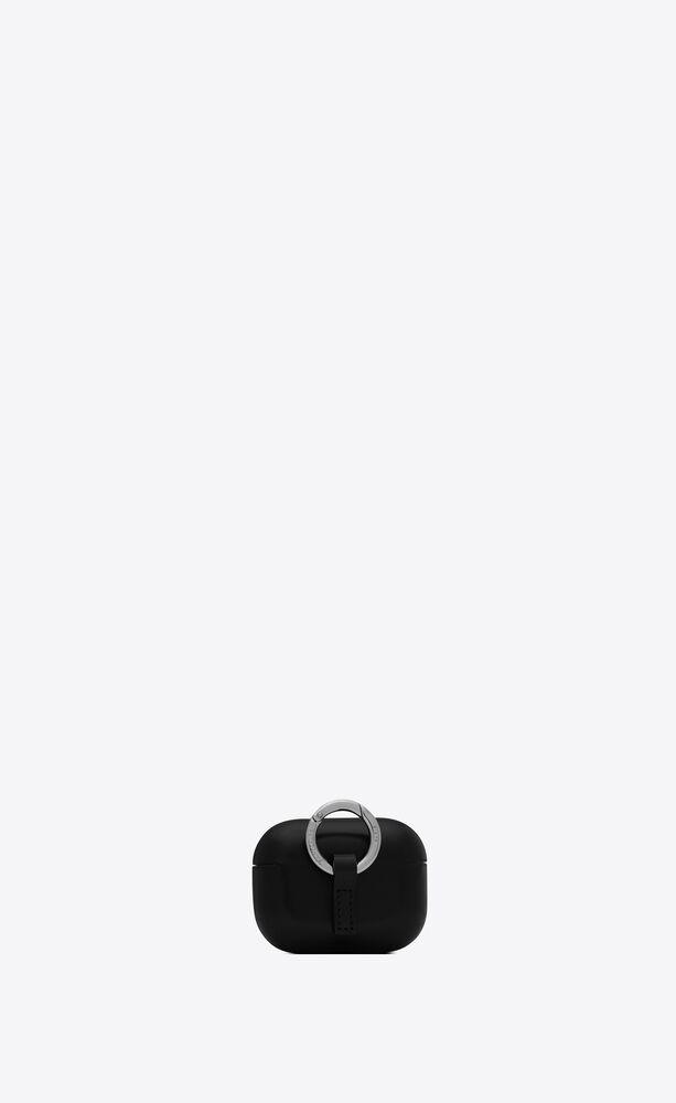 SAINT LAURENT PARIS光滑皮革无线耳机盒适用于airpods pro
