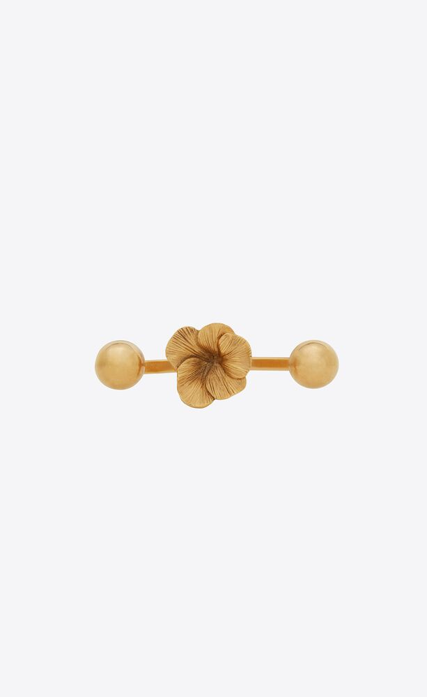 芙蓉花开放式指节金属戒指