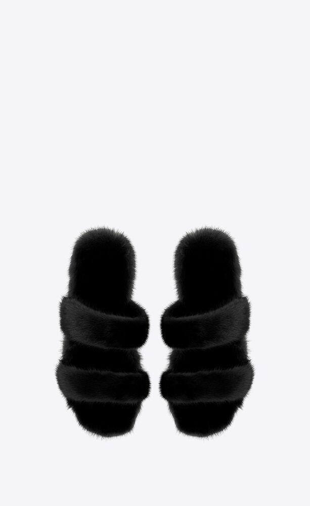 BLEACH貂皮凉鞋
