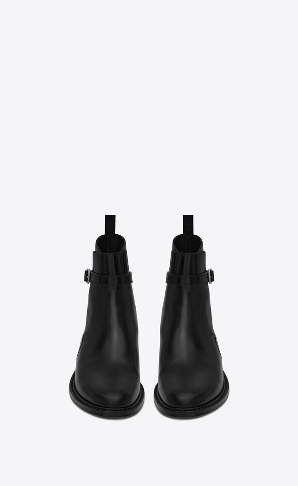Army亮面皮革马裤靴