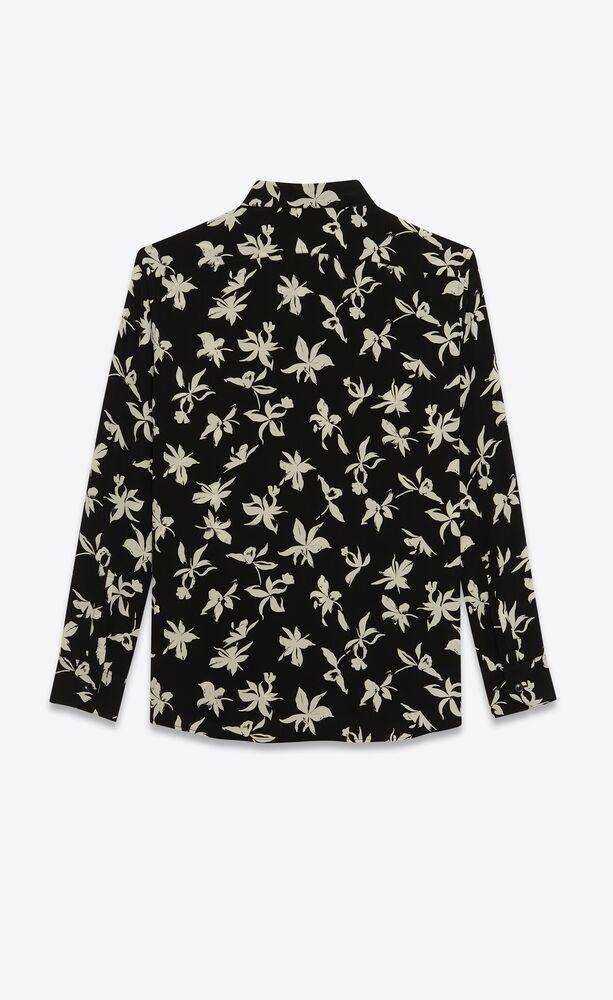 桑蚕丝双绉野兰花衬衫