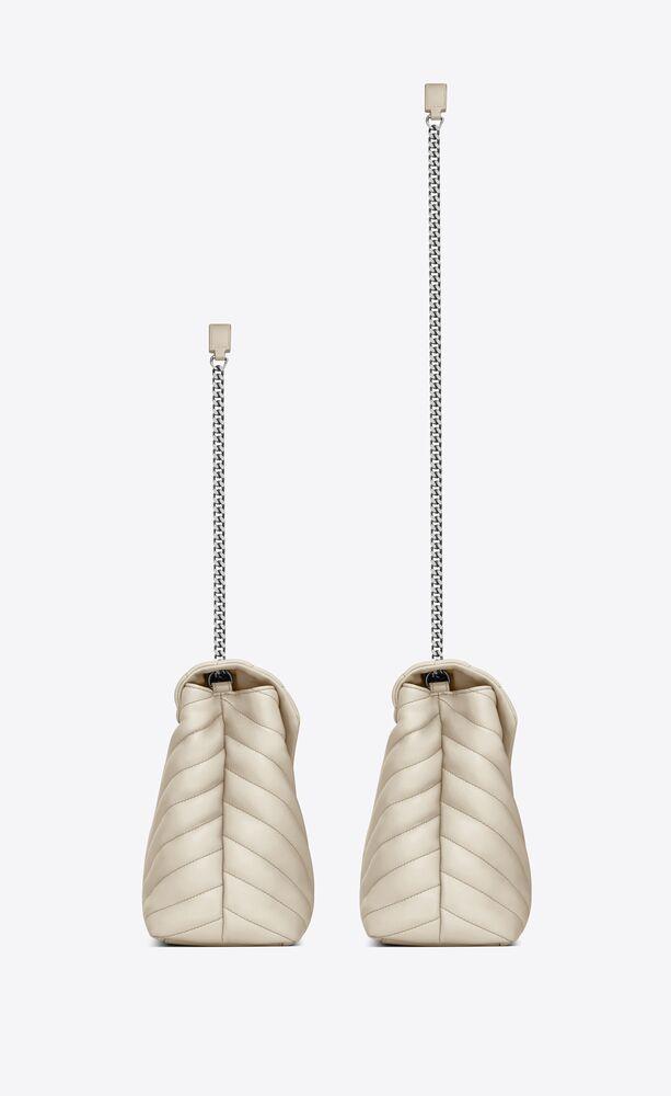 Loulou 中号Y形绗缝真皮包