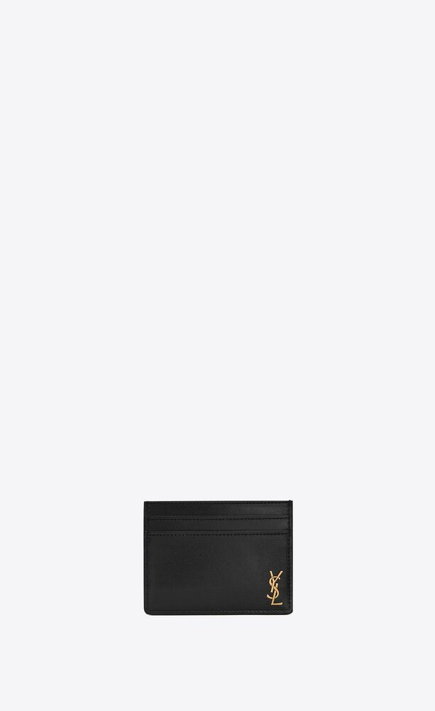 Tiny Monogram亮面皮革卡包